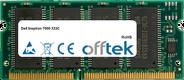 Inspiron 7000 333C 128MB Module - 144 Pin 3.3v PC100 SDRAM SoDimm