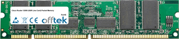 Router 12000 (GSR Line Card) Packet Memory 512MB Kit (4x128MB Modules) - 168 Pin 3.3v PC133 ECC Registered SDRAM Dimm