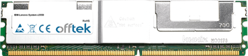 System x3550 8GB Kit (2x4GB Modules) - 240 Pin 1.8v DDR2 PC2-5300 ECC FB Dimm