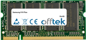 X10 Plus 1GB Module - 200 Pin 2.5v DDR PC333 SoDimm