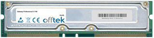Professional S 1700 1GB Kit (2x512MB Modules) - 184 Pin 2.5v 800Mhz Non-ECC RDRAM Rimm