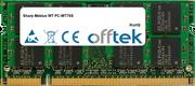 Mebius WT PC-WT70S 1GB Module - 200 Pin 1.8v DDR2 PC2-4200 SoDimm