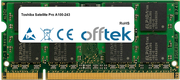 Satellite Pro A100-243 2GB Module - 200 Pin 1.8v DDR2 PC2-4200 SoDimm