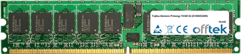 Primergy TX300 S2 (D1899/D2099) 4GB Kit (2x2GB Modules) - 240 Pin 1.8v DDR2 PC2-3200 ECC Registered Dimm (Single Rank)