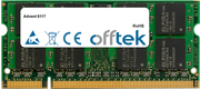 8117 1GB Module - 200 Pin 1.8v DDR2 PC2-4200 SoDimm