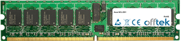 NCL-DS1 4GB Kit (2x2GB Modules) - 240 Pin 1.8v DDR2 PC2-3200 ECC Registered Dimm (Single Rank)