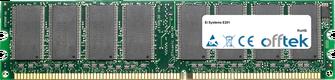 E201 1GB Module - 184 Pin 2.6v DDR400 Non-ECC Dimm