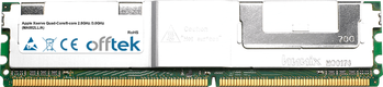 Xserve Quad-Core/8-core 2.8GHz /3.0GHz (MA882LL/A) 8GB Kit (2x4GB Modules) - 240 Pin 1.8v DDR2 PC2-6400 ECC FB Dimm