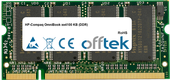 OmniBook xe4100 KB (DDR) 512MB Module - 200 Pin 2.5v DDR PC266 SoDimm