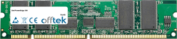 PowerEdge 350 256MB Module - 168 Pin 3.3v PC100 ECC Registered SDRAM Dimm