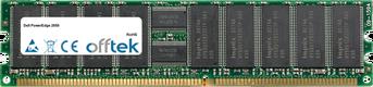 PowerEdge 2650 4GB Kit (2x2GB Modules) - 184 Pin 2.5v DDR266 ECC Registered Dimm (Dual Rank)
