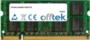 Satellite X200-21E 2GB Module - 200 Pin 1.8v DDR2 PC2-5300 SoDimm