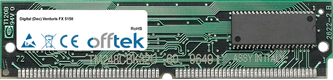Venturis FX 5150 64MB Kit (2x32MB Modules) - 72 Pin 5v EDO Non-Parity Simm