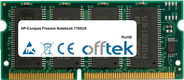 Presario Notebook 1700US 256MB Module - 144 Pin 3.3v PC133 SDRAM SoDimm