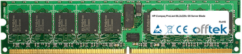 ProLiant BL2x220c G5 Server Blade 16GB Kit (2x8GB Modules) - 240 Pin 1.8v DDR2 PC2-5300 ECC Registered Dimm (Dual Rank)