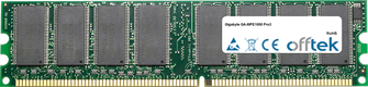 GA-8IPE1000 Pro3 1GB Module - 184 Pin 2.6v DDR400 Non-ECC Dimm