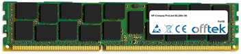 ProLiant BL280c G6 1GB Module - 240 Pin 1.5v DDR3 PC3-8500 ECC Registered Dimm (Single Rank)