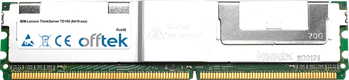 ThinkServer TD100 (6419-xxx) 8GB Kit (2x4GB Modules) - 240 Pin 1.8v DDR2 PC2-5300 ECC FB Dimm