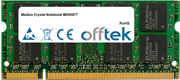 Crystal Notebook MD95977 1GB Module - 200 Pin 1.8v DDR2 PC2-5300 SoDimm