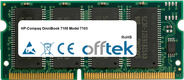 OmniBook 7100 Model 7103 128MB Module - 144 Pin 3.3v PC66 SDRAM SoDimm