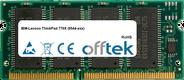ThinkPad 770X (9544-xxx) 128MB Module - 144 Pin 3.3v PC100 SDRAM SoDimm