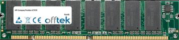 Pavilion XT978 128MB Module - 168 Pin 3.3v PC133 SDRAM Dimm