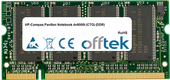 Pavilion Notebook dv8000t (CTO) (DDR) 1GB Module - 200 Pin 2.5v DDR PC333 SoDimm
