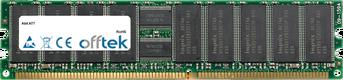 AT7 1GB Module - 184 Pin 2.5v DDR333 ECC Registered Dimm (Dual Rank)