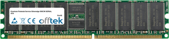 Pedestal Service Silveredge 500CW SERIAL ATA 2GB Module - 184 Pin 2.5v DDR266 ECC Registered Dimm (Dual Rank)