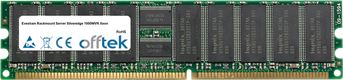 Rackmount Server Silveredge 1000WVR Xeon 2GB Kit (2x1GB Modules) - 184 Pin 2.5v DDR266 ECC Registered Dimm (Single Rank)