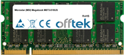 Megabook M673-018US 1GB Module - 200 Pin 1.8v DDR2 PC2-4200 SoDimm