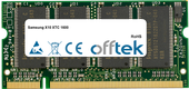 X10 XTC 1600 512MB Module - 200 Pin 2.5v DDR PC266 SoDimm
