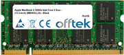 MacBook 2.16GHz Intel Core 2 Duo - (13.3-inch) (MB063LL/A) - Black 1GB Module - 200 Pin 1.8v DDR2 PC2-5300 SoDimm