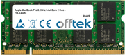 MacBook Pro 2.2GHz Intel Core 2 Duo - (15.4-inch) 2GB Module - 200 Pin 1.8v DDR2 PC2-5300 SoDimm