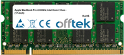 MacBook Pro 2.33GHz Intel Core 2 Duo - (17-inch) 2GB Module - 200 Pin 1.8v DDR2 PC2-5300 SoDimm