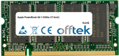 PowerBook G4 1.33Ghz (17-Inch) 1GB Module - 200 Pin 2.5v DDR PC333 SoDimm