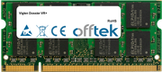 Dossier VR+ 1GB Module - 200 Pin 1.8v DDR2 PC2-5300 SoDimm