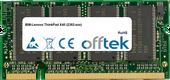 ThinkPad X40 (2382-xxx) 1GB Module - 200 Pin 2.5v DDR PC333 SoDimm