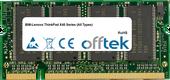 ThinkPad X40 Series (All Types) 1GB Module - 200 Pin 2.5v DDR PC333 SoDimm