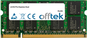 K2 Pro Express Dual 1GB Module - 200 Pin 1.8v DDR2 PC2-5300 SoDimm