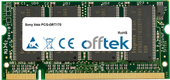 Vaio PCG-GRT170 512MB Module - 200 Pin 2.5v DDR PC266 SoDimm