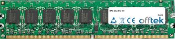 ClientPro 565 2GB Kit (2x1GB Modules) - 240 Pin 1.8v DDR2 PC2-5300 ECC Dimm (Dual Rank)