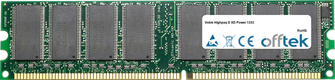 Highpaq D XD Power 1333 1GB Module - 184 Pin 2.5v DDR333 Non-ECC Dimm