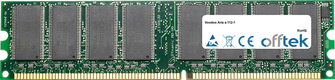Aria a:112-1 2GB Kit (2x1GB Modules) - 184 Pin 2.6v DDR400 Non-ECC Dimm