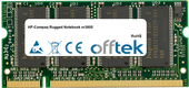 Rugged Notebook nr3600 512MB Module - 200 Pin 2.5v DDR PC333 SoDimm