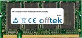 Pavilion Notebook dv8387EA (DDR) 1GB Module - 200 Pin 2.5v DDR PC333 SoDimm