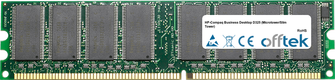 Business Desktop D325 (Microtower/Slim Tower) 1GB Module - 184 Pin 2.5v DDR266 Non-ECC Dimm