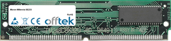 Millennia SE233 64MB Kit (2x32MB Modules) - 72 Pin 5v EDO Non-Parity Simm