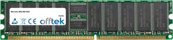 MS-9204 4GB Kit (2x2GB Modules) - 184 Pin 2.5v DDR266 ECC Registered Dimm (Dual Rank)