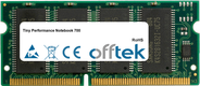 Performance Notebook 700 128MB Module - 144 Pin 3.3v PC100 SDRAM SoDimm